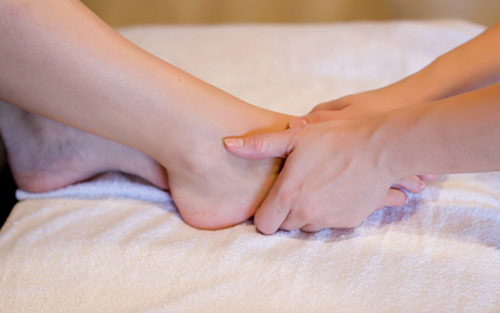 Reflexology foot massage treatment for peripheral neuropathy