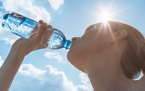 Drinking water during a heatwave replenishes body fluids and helps prevent heat related illnesses