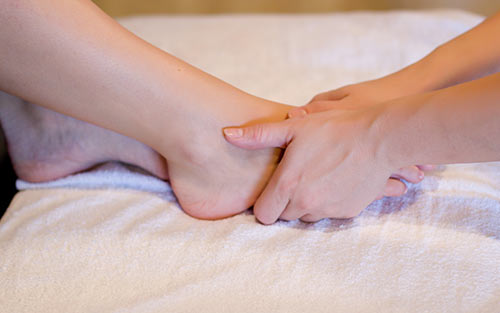 Anterior cruciate ligament reflexology massage therapy