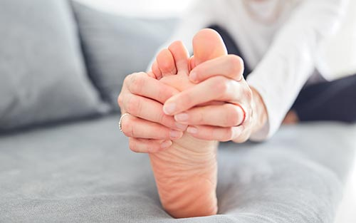 Neuropathy can cause sharp stinging pain or tingling in the toes