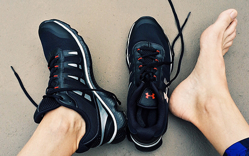 Swollen feet are common in sports and associated injuries