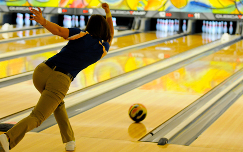Relax and destress after work by going bowling