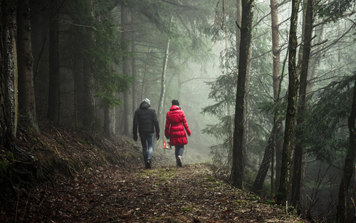 Relax and destress after work by walking a trail