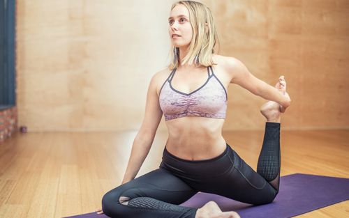 Yoga exercises promote good health and posture